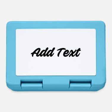 Text Add text / text black - Lunchbox