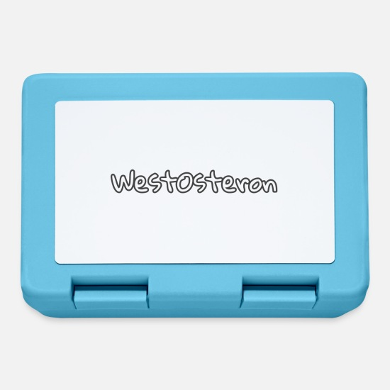 West Lunchboxes - WestOsteron Textblock - Lunchbox sapphire blue