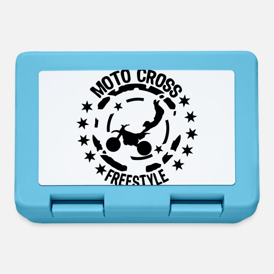 Motorcycle Lunchboxes - freestyle motocross motorcycle34 go - Lunchbox sapphire blue