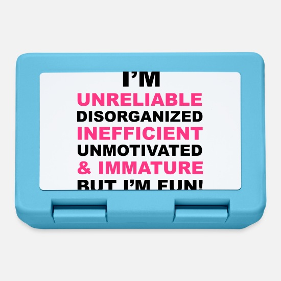 Lazy Lunchboxes - I'm Fun - Lunchbox sapphire blue