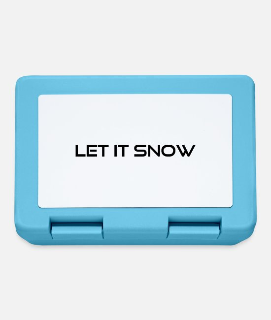 Santa Lunchboxes - let it snow - Lunchbox sapphire blue