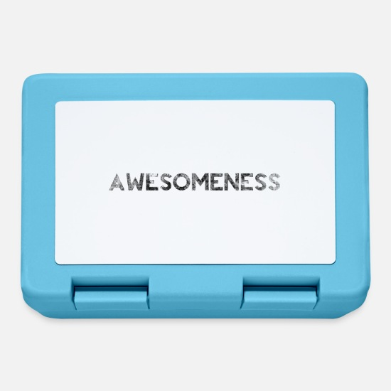 Awesome Lunchboxes - Awesome Grunge Bold Splat Text - Lunchbox sapphire blue