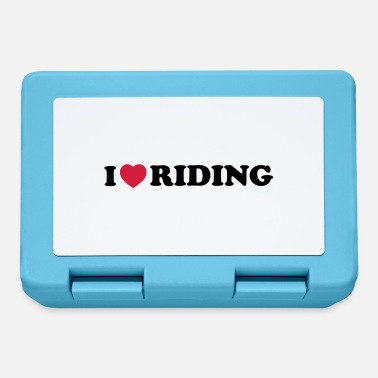 Riding i love riding - Lunch box
