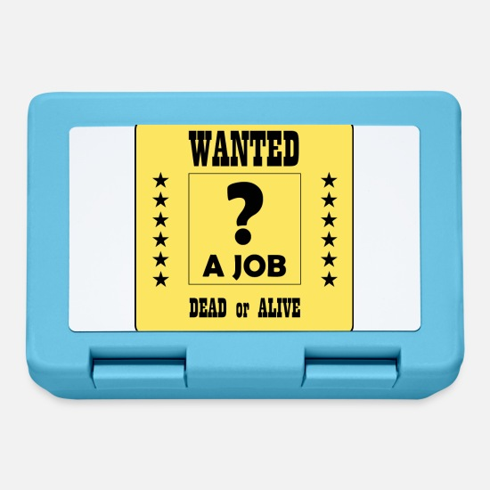 Varie Lunch boxes - Wanted a Job - Lunch box blu zaffiro