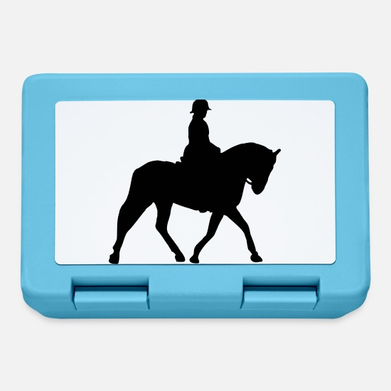 Horse-print Lunchboxes - trotting horse - vector - Lunchbox sapphire blue