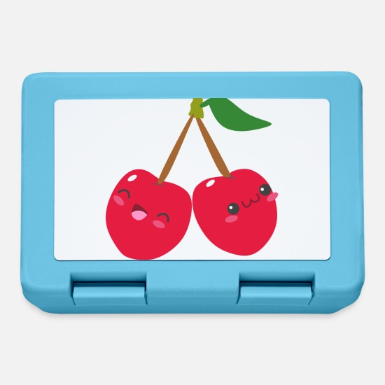 Gift Idea Lunchboxes - Cheerful cherries - Lunchbox sapphire blue