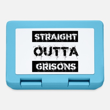 Grisons Straight Outta Grisons Switzerland Gift City - Lunchbox
