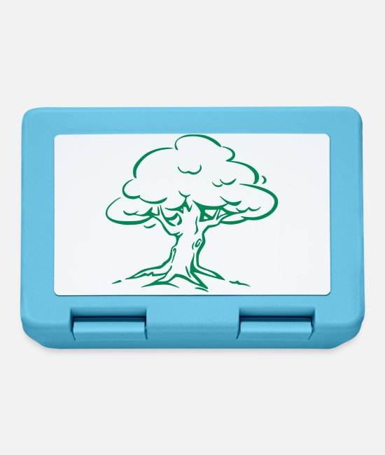 Nature Lunchboxes - Tree Forest Nature - Lunchbox sapphire blue