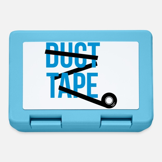 Quote Lunchboxes - duct tape adhesive tape - Lunchbox sapphire blue