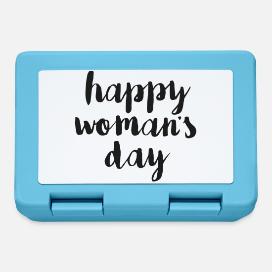 Basement Lunchboxes - Happy woman day - Lunchbox sapphire blue