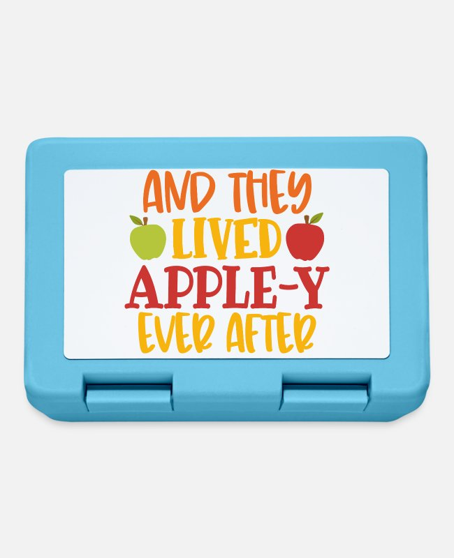 Thankful Lunchboxes - And they lived the apple Y always after - Lunchbox sapphire blue
