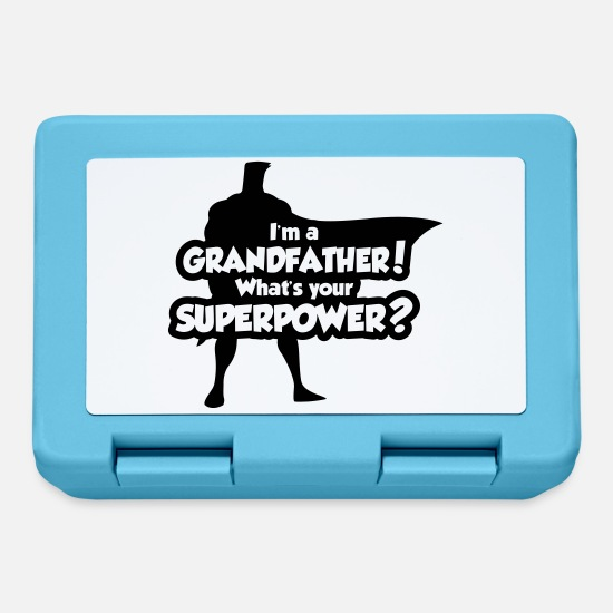 Opa Brotdosen - I'm a grandfather. What's your superpower? - Brotdose Saphirblau
