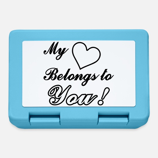 Heart Lunchboxes - My Heart Belongs to You - Lunchbox sapphire blue