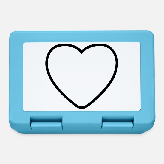 Heart Lunchboxes - Heart Love - Lunchbox sapphire blue
