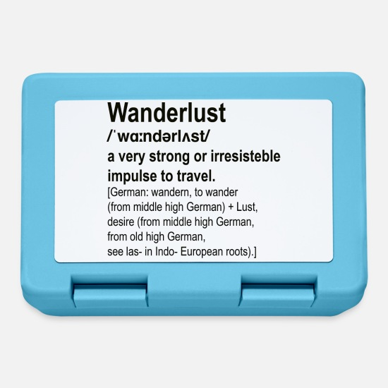 Travel Lunchboxes - wanderlust - Lunchbox sapphire blue