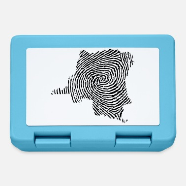 Democrat Democratic Republic of Congo fingerprint - Lunchbox
