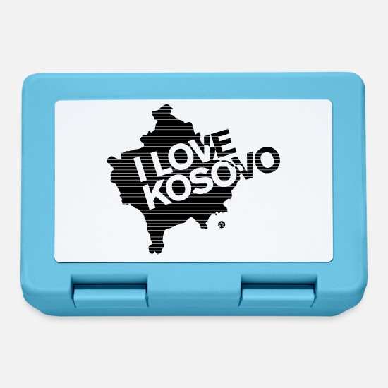 Kosovo Lunchboxes - I love Kosovo - Lunchbox sapphire blue