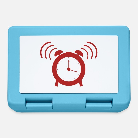 Clock Lunchboxes - alarm clock - Lunchbox sapphire blue
