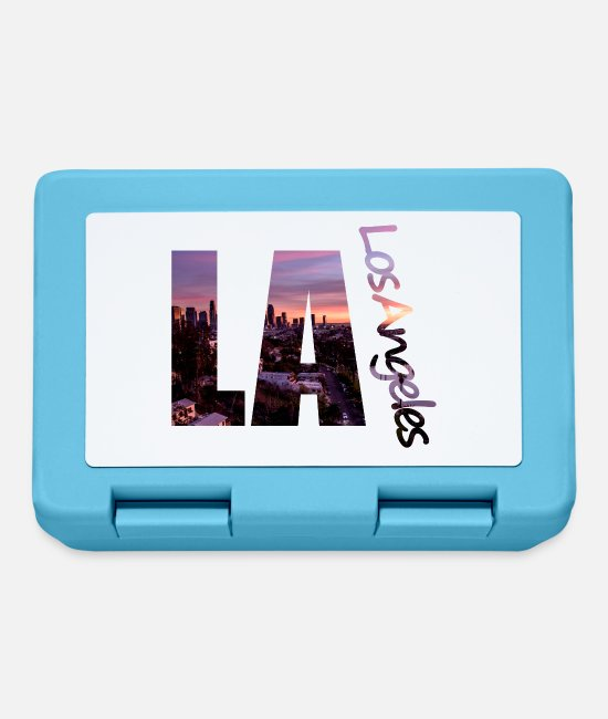 Sunset Lunchboxes - LA - Los Angeles skyline - Lunchbox sapphire blue