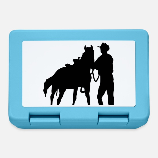 Western Lunchboxes - Cowboy - Lunchbox sapphire blue