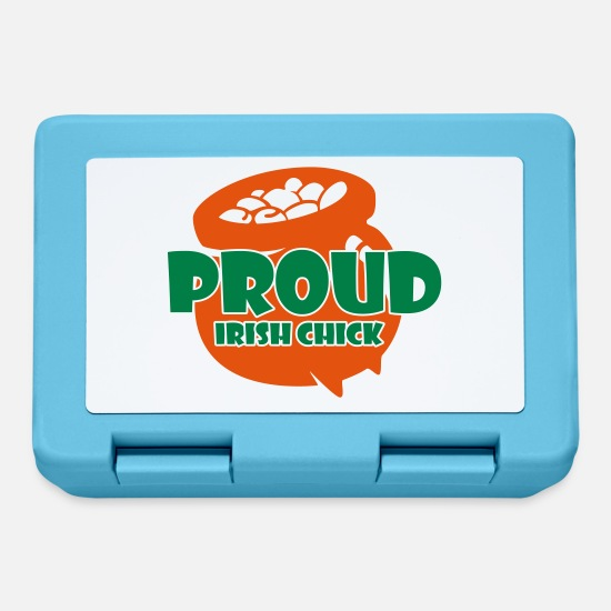 Luck Lunchboxes - St. Patrick's Day: proud irish chick - Lunchbox sapphire blue
