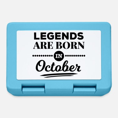 October legends are born in october birthday October - Lunchbox