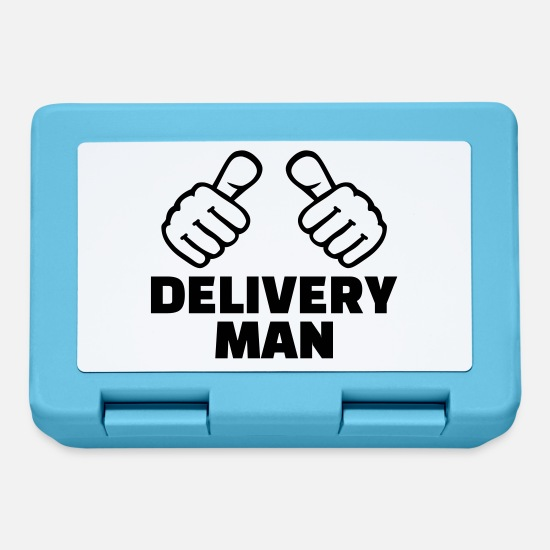 Finger Lunchboxes - Delivery man - Lunchbox sapphire blue