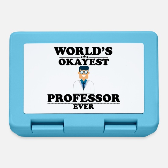 Professor Lunchboxes - WORLD'S OKAYEST PROFESSOR EVER - Lunchbox sapphire blue