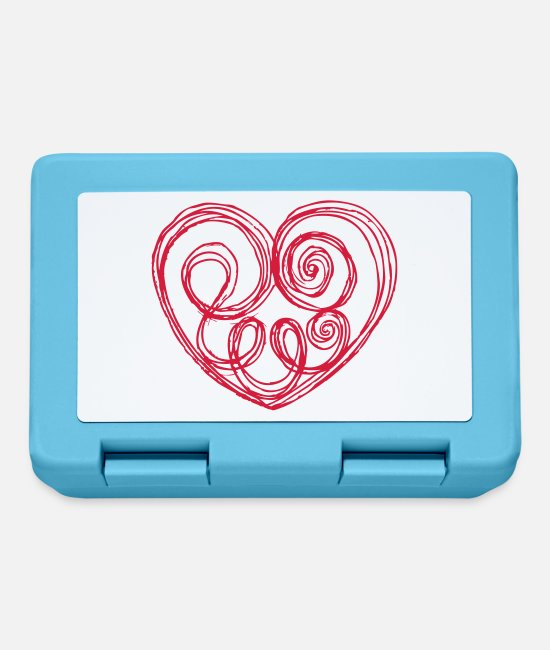 Heart Lunchboxes - Heart, Herz, Kringel - Lunchbox sapphire blue