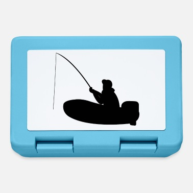 Motor Boat Fisherman on motor boat with fishing rod - Lunchbox