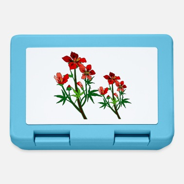 Wild Red Cayenne Flowers - Lunchbox