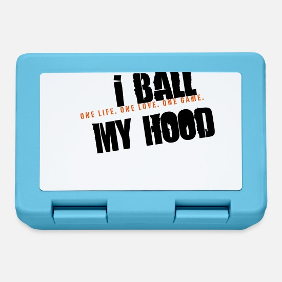 Fan Madkasser - i ball my hood - basketball slogan - Madkasse safirblå
