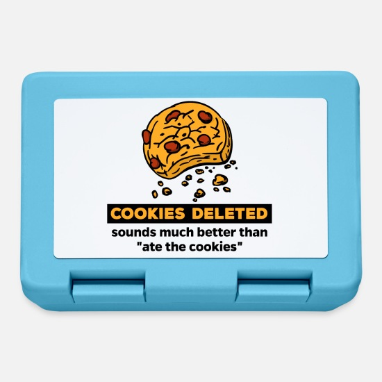 Cool Sayings Lunchboxes - Cookies Delete Cookies Funny saying Humor Snacking - Lunchbox sapphire blue
