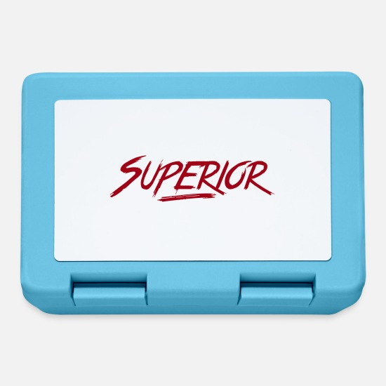 Red Lunchboxes - Superior-Text - Lunchbox sapphire blue