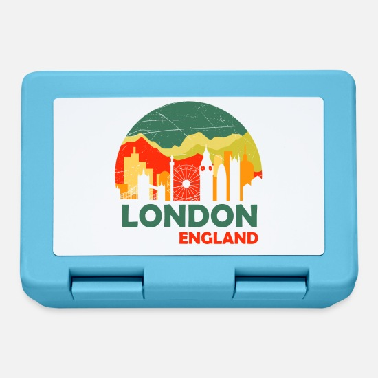 Donna Lunch boxes - Londra Inghilterra - Design - Lunch box blu zaffiro