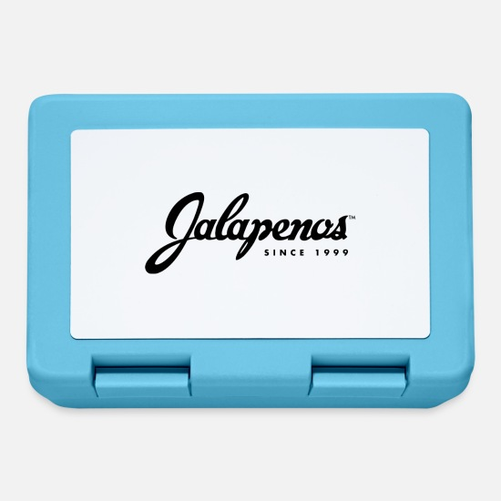 Large Lunchboxes - jalapenos logo large - Lunchbox sapphire blue