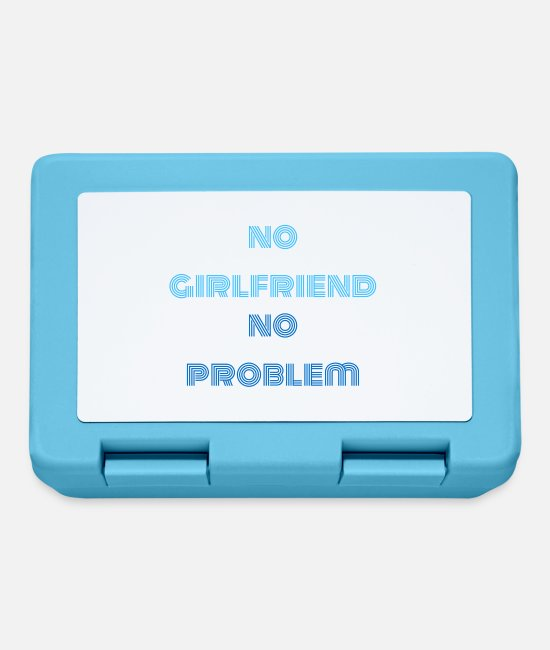 Motivation Lunchboxes - no girlfriend no problem saying - Lunchbox sapphire blue
