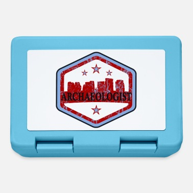 Logo grafico dell'archeologo con Stonehenge - Lunch box
