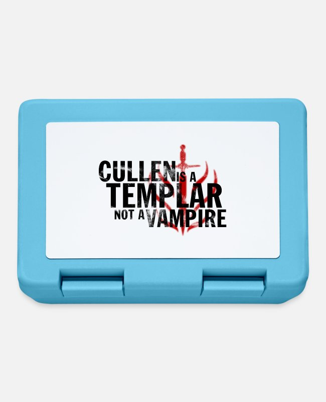 "Game Lunchboxes - ""Cullen is a Templar"" Design - Lunchbox sapphire blue"