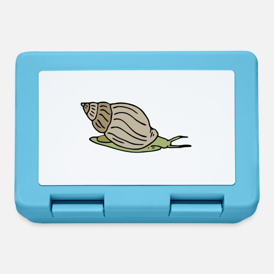 Snail Lunchboxes - Old snail - Lunchbox sapphire blue