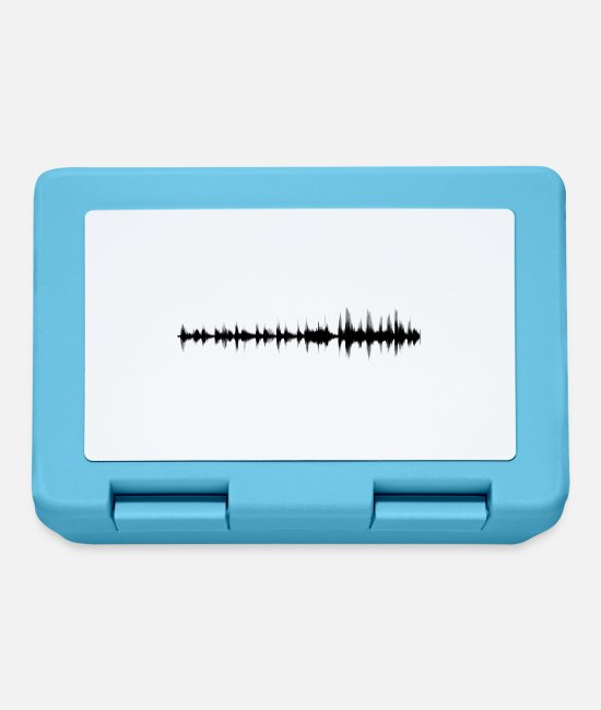 Wave Brotdosen - Sound Waves / Synthesizer Geschenk / Geschenkidee - Brotdose Saphirblau