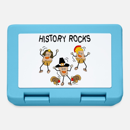 Highschool Lunchboxes - History Rocks - Lunchbox sapphire blue