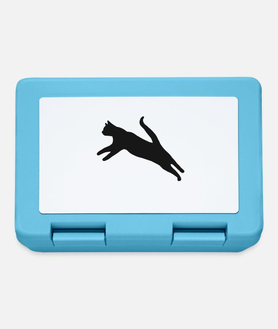 Pussycat Lunchboxes - Tomcat kitty domestic cat pet cat kitty - Lunchbox sapphire blue