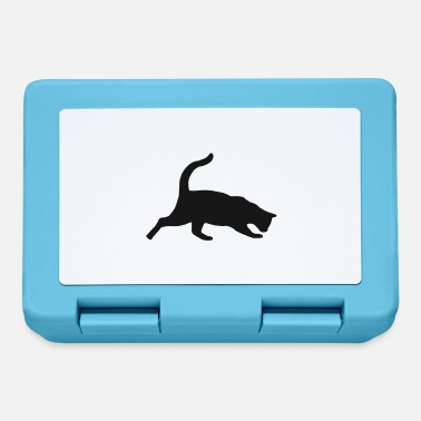 House Tiger Cat kitty cats house tiger silhouette cat - Lunchbox