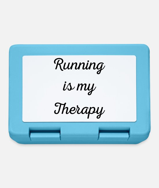 Bless You Lunchboxes - Running is my therapy saying gift - Lunchbox sapphire blue