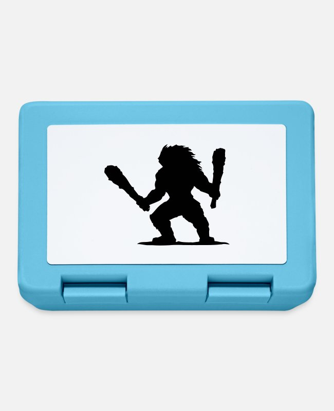 Drummer Lunchboxes - Barbarian Drummer - Lunchbox sapphire blue