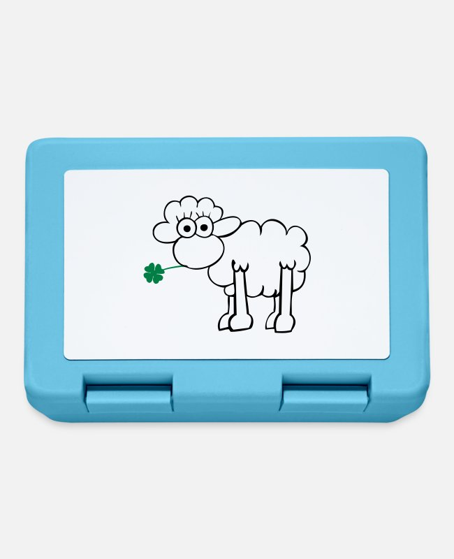St Patricks Day Lunchboxes - Sheep with clover - Lunchbox sapphire blue