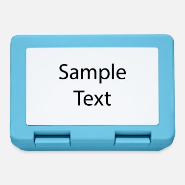 Text Sample text - Lunchbox