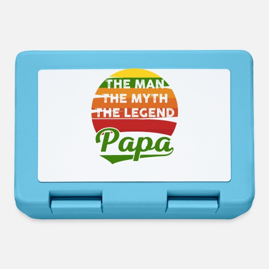 Birthday Lunchboxes - The Man - The Myth - The Legend - Papa - Father's Day - Lunchbox sapphire blue