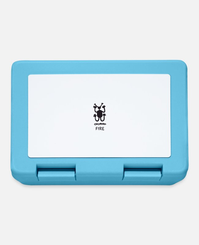 Fire Department Lunchboxes - Petroglyph symbol - Lunchbox sapphire blue